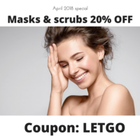 Face masks and face scrubs promotions online near California